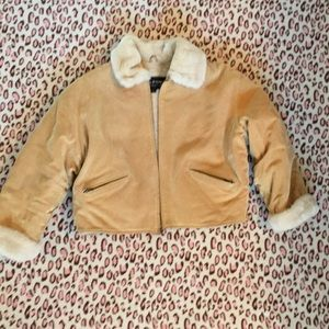 Beautiful Tan Suede Jacket by Wilson's Leather